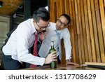 businessmen are hangout after... | Shutterstock . vector #1317708629