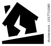 earthquake damage vector icon | Shutterstock .eps vector #1317711080