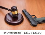 trial for armed robbery. trial... | Shutterstock . vector #1317712190