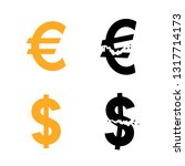euro and dollar currency symbol ... | Shutterstock .eps vector #1317714173