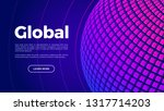 global technology landing page  ... | Shutterstock .eps vector #1317714203