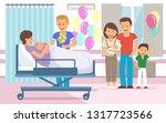 maternity hospital discharging... | Shutterstock .eps vector #1317723566