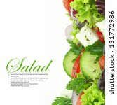 fresh salad mixed vegetables | Shutterstock . vector #131772986