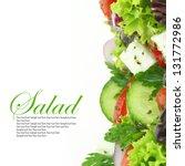 fresh salad mixed vegetables | Shutterstock . vector #131772986