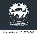 wanderlust adventure logo | Shutterstock .eps vector #1317736640