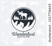 wanderlust adventure logo   Shutterstock .eps vector #1317736643
