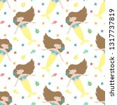 seamless summer pattern with... | Shutterstock .eps vector #1317737819