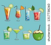 tropical cocktail poster | Shutterstock .eps vector #1317738260