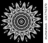 floral black and white... | Shutterstock .eps vector #1317742370