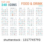 big collection of linear icons. ... | Shutterstock .eps vector #1317745793