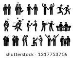 happy gay men couple....   Shutterstock . vector #1317753716