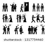 lesbian woman social difficulty ...   Shutterstock .eps vector #1317754460