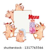 vector illustration of a cute... | Shutterstock .eps vector #1317765566