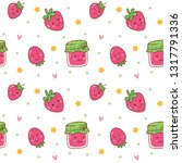 kawaii seamless background with ...   Shutterstock .eps vector #1317791336