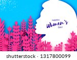 happy womens day greetings card.... | Shutterstock .eps vector #1317800099