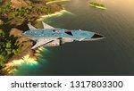 3d cg rendering of space ship | Shutterstock . vector #1317803300
