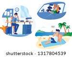 flat illustration set  calling... | Shutterstock .eps vector #1317804539