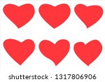 heart  symbol of love and... | Shutterstock .eps vector #1317806906