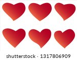 heart  symbol of love and... | Shutterstock .eps vector #1317806909