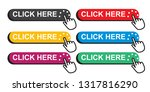 click here button set with hand ... | Shutterstock .eps vector #1317816290