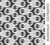 abstract seamless gray  black... | Shutterstock .eps vector #1317816443