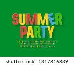 vector colorful poster summer...   Shutterstock .eps vector #1317816839