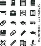solid black vector icon set  ... | Shutterstock .eps vector #1317825260