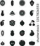 solid black vector icon set  ... | Shutterstock .eps vector #1317826553