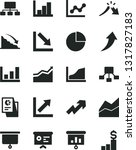 solid black vector icon set  ... | Shutterstock .eps vector #1317827183