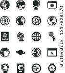solid black vector icon set  ... | Shutterstock .eps vector #1317828170