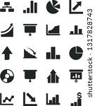 solid black vector icon set  ... | Shutterstock .eps vector #1317828743