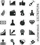 solid black vector icon set  ... | Shutterstock .eps vector #1317829196