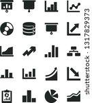 solid black vector icon set  ... | Shutterstock .eps vector #1317829373