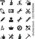 solid black vector icon set  ... | Shutterstock .eps vector #1317830606