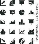 solid black vector icon set  ... | Shutterstock .eps vector #1317831443