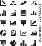solid black vector icon set  ... | Shutterstock .eps vector #1317833006