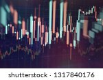 technical price graph and... | Shutterstock . vector #1317840176
