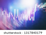 technical price graph and... | Shutterstock . vector #1317840179