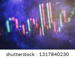 graph with diagrams on the... | Shutterstock . vector #1317840230