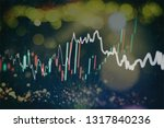 graph with diagrams on the... | Shutterstock . vector #1317840236