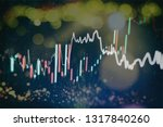 graph with diagrams on the... | Shutterstock . vector #1317840260