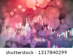 technical price graph and... | Shutterstock . vector #1317840299