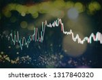 technical price graph and... | Shutterstock . vector #1317840320