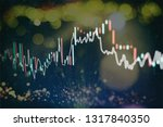 technical price graph and... | Shutterstock . vector #1317840350