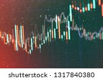 technical price graph and... | Shutterstock . vector #1317840380