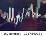 technical price graph and... | Shutterstock . vector #1317840383