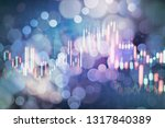 technical price graph and... | Shutterstock . vector #1317840389