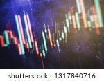 technical price graph and... | Shutterstock . vector #1317840716
