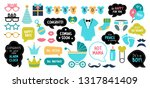 baby shower photo booth props.... | Shutterstock .eps vector #1317841409