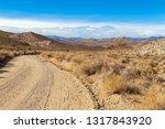 Dirt Road In The Desert On The...